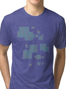 squares blue Tri-blend T-Shirt