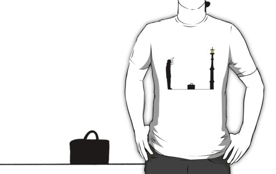The Briefcase T Shirt (colour) by Fangpunk