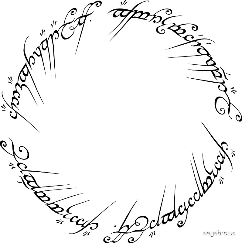 Lord Of The Rings Inscription Language