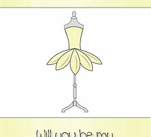 Best Friend Will You Be My Bridesmaid with Mannequin & Petal Dress by Samantha Harrison