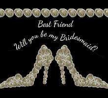 Best Friend Will You Be My Bridesmaid White Rose Handbag & Shoe Design by Samantha Harrison