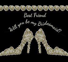 Best Friend Will You Be My Bridesmaid White Rose Handbag & Shoe Design by Samantha Harrison