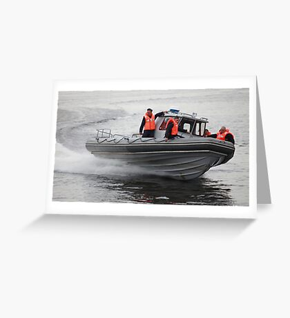 Russian Marines in a speedboat Greeting Card