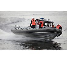Russian Marines in a speedboat Photographic Print