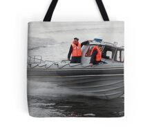 Russian Marines in a speedboat Tote Bag