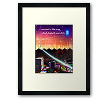 narrow is the way... Framed Print
