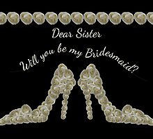 Sister Will You Be My Bridesmaid White Rose Handbag & Shoe Design by Samantha Harrison