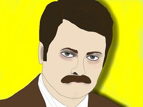 Ron F***kin' Swanson by hbnena