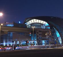 Business Bay Metro at Night by Ian Mitchell