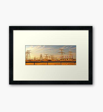 Power in the sands Framed Print
