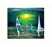 A Grace of Sail Art Print