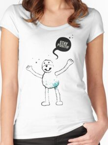 Flat Eric (Mr. Oizo) - Stay Positif Women's Fitted Scoop T-Shirt