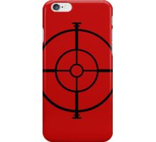 target sniper  killer geek video game iPhone Case/Skin