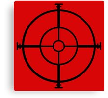 target sniper  killer geek video game Canvas Print