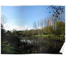 Lake At Mangerton Mill  Dorset UK Poster