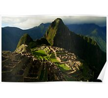 Machi Picchu at Sunset  Poster