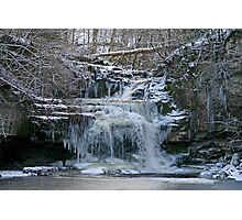 Frozen Falls Photographic Print