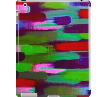 Green Red and Pink Brush Stroke Horizontal Lines iPad Case/Skin