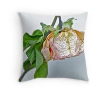 One Dried Rose Throw Pillow