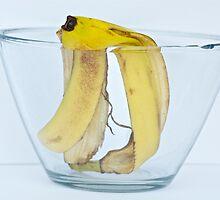 Banana peel in a bowl by Carolyn Clark