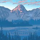 bear country landscape illustration by SFDesignstudio