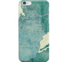 United States Of America Map Blue Vintage iPhone Case/Skin