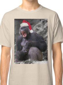 Angry Christmas Gorilla Classic T-Shirt