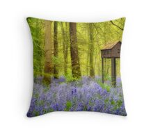Birdhouse with view Throw Pillow