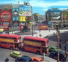 Piccadilly Circus (Vintage) by Jenn Kellar