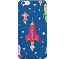 cartoon spaceships launch 2 iPhone Case/Skin