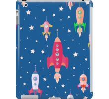 cartoon spaceships launch 2 iPad Case/Skin