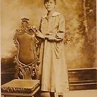 Young Black Woman with Chair by Vintaged