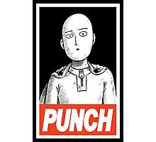 One Punch Man (OBEY) Photographic Print