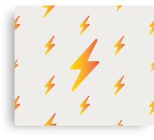 thunderbolt pattern Canvas Print