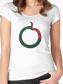 Quicksilvermad Warning Women's Fitted Scoop T-Shirt