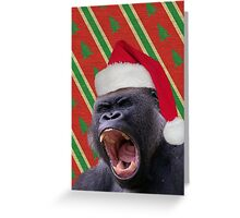 Angry Christmas Gorilla Greeting Card