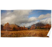 Cona Glen in Autumn. Poster