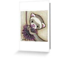 Ferret Toy Greeting Card