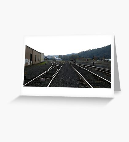 Staying on Track Greeting Card