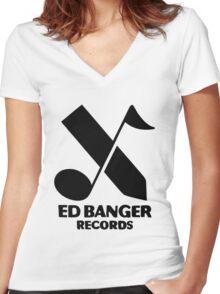 Ed Banger Records - Logo Women's Fitted V-Neck T-Shirt