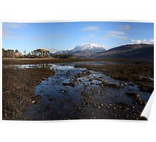 Ben Nevis from Inverscaddle Bay. Poster