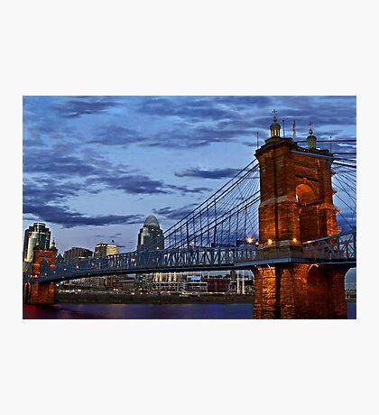 Roebling Bridge Cincinnati Photographic Print