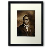 Black Man with Bow Tie Framed Print