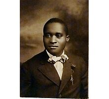 Black Man with Bow Tie Photographic Print
