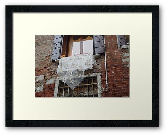 Venetian Lace on Window by Kitrina Arbuckle