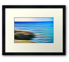 Last Ocean To Cross Framed Print