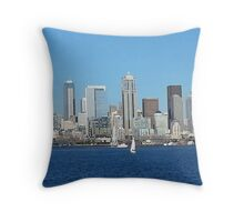 Downtown Seattle Throw Pillow