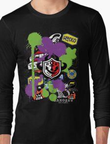 Splatoon Inspired: Ink Splat Brand Long Sleeve T-Shirt