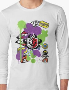 Splatoon Inspired: Ink Splat Brand Long Sleeve T-Shirt