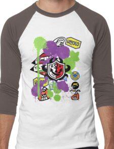 Splatoon Inspired: Ink Splat Brand Men's Baseball ¾ T-Shirt
